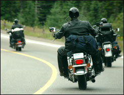Motorcycle accident road hazards