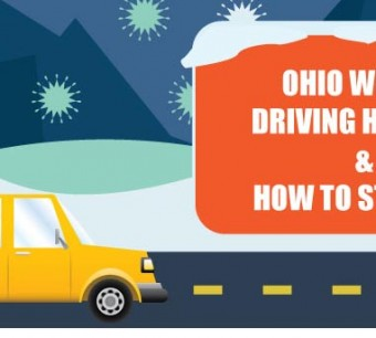 Ohio winter driving hazards and how to stay safe infographic
